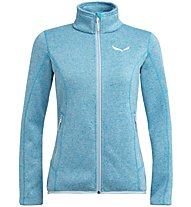 Salewa Rocca - giacca in pile - donna, Light Blue/White