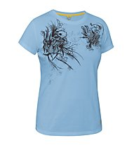 Salewa Rockshow T-shirt arrampicata donna, Light Blue