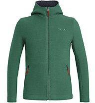 Salewa Sarner 2L Wool - Strickjacke mit Kapuze - Herren, Green/Red