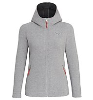 Salewa Sarner 2L - giacca con cappuccio - donna, Light Grey/Red