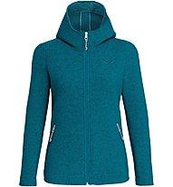 Salewa Sarner 2L - giacca con cappuccio - donna, Blue/Light Blue