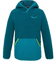 Salewa Sarner Sherarling K Hoody - felpa con cappuccio - bambino, Blue/Light Blue