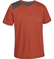 Salewa Sassolungo Dry'ton - T-shirt trekking - bambino, Terracotta