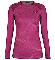 Salewa Seceda Dry W L/S - Langarmshirt - Damen , Pink