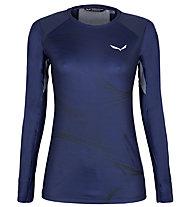 Salewa Seceda Dry W L/S - Langarmshirt - Damen , Dark Blue