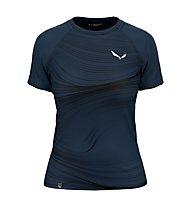 Salewa W Seceda S/S - T-shirt - Damen, Navy