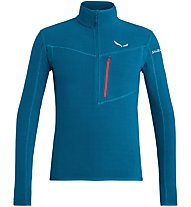 Salewa Selva - Fleecepullover Wandern - Herren, Light Blue/Red
