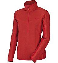 Salewa Selva - Pullover mit Reißverschluss - Damen, Dark Red