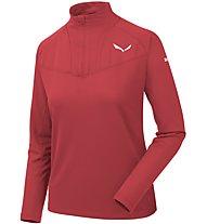 Salewa Sennes Dry - Pullover mit Reißverschluss - Damen, Red