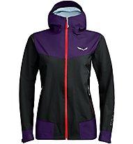 Salewa Sesvenna Active GTX - giacca hardshell - donna, Black/Violet