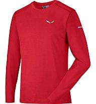 Salewa Sesvenna Wool - maglia a maniche lunghe alpinismo - uomo, Red