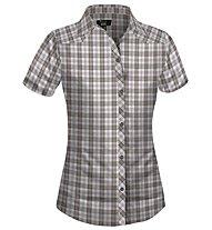 Salewa Shira DRY W S/S Shirt Camicia a maniche corte trekking donna, M Boè Sand Walnut
