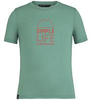Salewa Simple Life Dri-Rel - T-Shirt - Kinder, Green