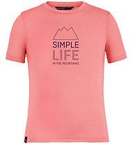 Salewa Simple Life Dri-Rel - T-Shirt - Kinder, Pink