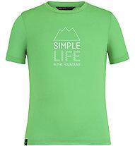 Salewa Simple Life Dri-Rel - T-Shirt - Kinder, Light Green