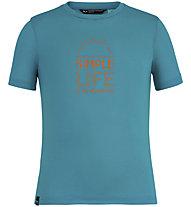 Salewa Simple Life Dri-Rel - T-Shirt - Kinder, Blue