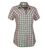 Salewa Sira Dry'ton Bluse Kurzarm, Green/Red