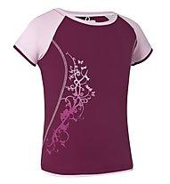 Salewa Sirene DRY G S/S Tee T-Shirt trekking bambina, Azalea (Pink)
