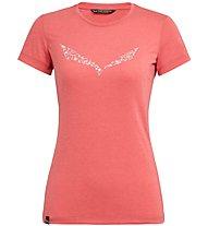 Salewa Solid Dri-Release - T-shirt trekking - donna, Light Red