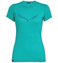 Salewa Solid Dri-Release - T-Shirt Bergsport - Damen, Azure