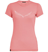 Salewa Solid Dri-Release - T-Shirt Bergsport - Damen, Pink/White