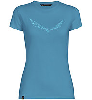 Salewa Solid Dri-Release - T-shirt trekking - donna, Light Blue/Light Blue