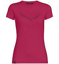 Salewa Solid Dri-Release - T-shirt trekking - donna, Pink/Dark Pink