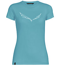Salewa Solid Dri-Release - T-shirt trekking - donna, Azure/White