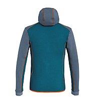Salewa Solid Logo Dry - Fleecejacke mit Kapuze Trekking - Herren, Grey/Blue/Orange