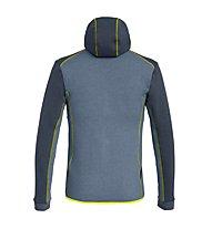 Salewa Solid Logo Dry - Fleecejacke mit Kapuze Trekking - Herren, Dark Blue/Blue/Yellow