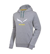 Salewa Solidlogo 2 CO - Felpa con cappuccio arrampicata - donna, Grey