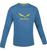 Salewa Solidlogo maglia manica lunga, Reef