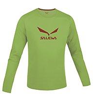 Salewa Solidlogo Shirt Langarm, Green