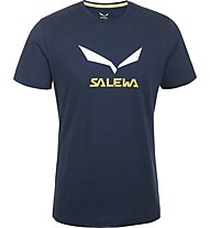 Salewa Solidlogo - T-Shirt arrampicata - uomo, Blue