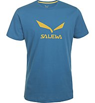Salewa Solidlogo - T-Shirt Wandern - Herren, Light Blue