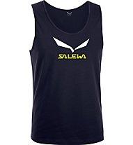 Salewa Solidlogo Shirt ärmellos, Night Black