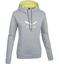 Salewa Solidlogo Kapuzenpulli Damen, Grey