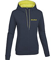 Salewa Solidlogo felpa con cappuccio donna, Night Black