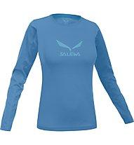 Salewa Solidlogo - maglia manica lunga arrampicata - donna, Light Blue