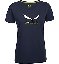 Salewa Solidlogo T-Shirt Damen, Night Black