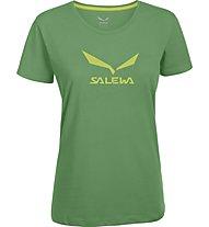 Salewa Solidlogo -T-Shirt Trekking - Damen, Green