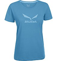 Salewa Solidlogo - T-Shirt arrampicata - donna, Light Blue