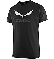 Salewa Solidlogo Dri-Release - T-shirt trekking - uomo, Black