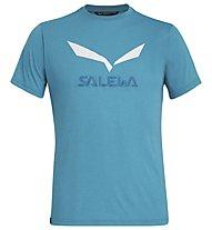 Salewa Solidlogo Dri-Release - T-shirt trekking - uomo, Ocean