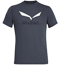Salewa Solidlogo Dri-Release - T-shirt trekking - uomo, Blue/White