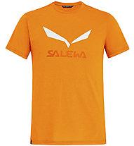 Salewa Solidlogo Dri-Release - T-shirt trekking - uomo, Orange/White