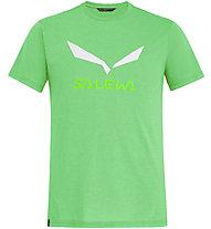 Salewa Solidlogo Dri-Release - T-shirt trekking - uomo, Light Green/White
