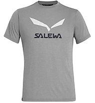Salewa Solidlogo Dri-Release - T-Shirt Bergsport - Herren, Light Grey/White