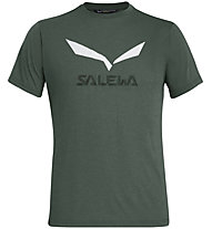 Salewa Solidlogo Dri-Release - T-Shirt Bergsport - Herren, Dark Green/White