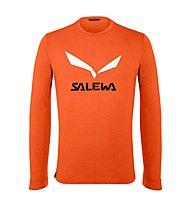 Salewa Solidlogo Dry - maglia a maniche lunghe - uomo, Orange
